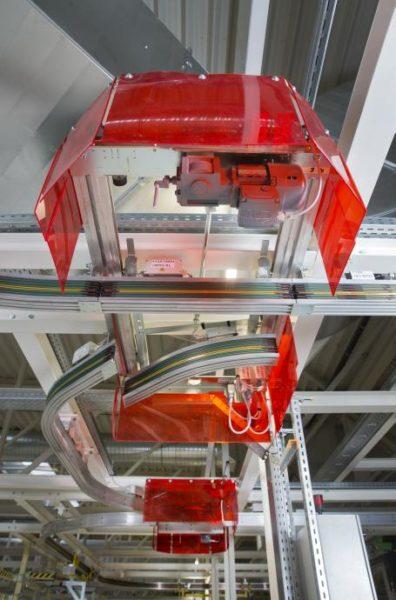 2-Weg-Weiche einer Elektrohängebahn