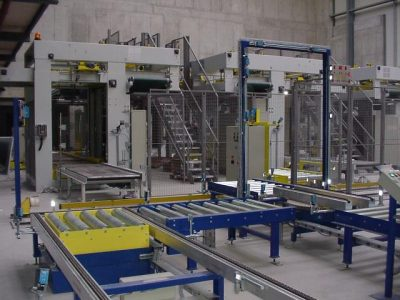 Conveyors in storage area