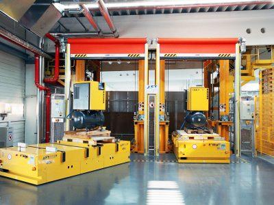 Bodentransportsystem BTSif für den Transport von Kompressoren