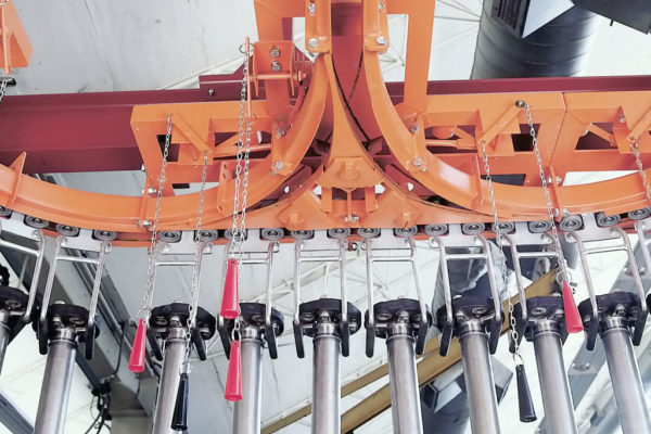 Manual overhead transfer system