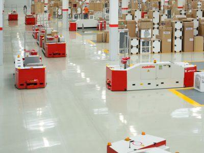Automated floor transport vehicle BTSif used to transport furniture