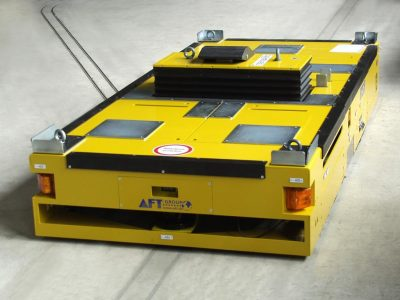 Fahrzeug eines Bodentransportsystems BTS